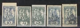 Lote 5 Sellos Yugoslavia, Jornaux, Periodicos 1919-1920 * - Zeitungsmarken