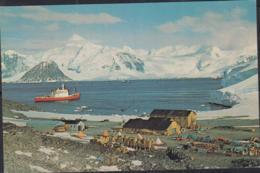 BRITISH ANTARCTIC TERRITORY - 1982 - ROTHERA STATION CARD TO SUSSEX  ROTHER POSTMARK AND BASE  CACHET - Territoire Antarctique Britannique  (BAT)