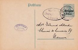 Carte OC12 Cachet Censure Mlilitaire Marche - Guerre 14-18