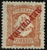 PORTUGAL, 1911, REGULAR EMISSION, CE#P.15, W/ INVERTED OVERPRINT, MH - Errors, Freaks & Oddities (EFO)