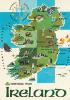 Postcard - Map - Illustrated Map Of Ireland - Card No.21 Posted  23rd April 1992 Very Good - Sin Clasificación