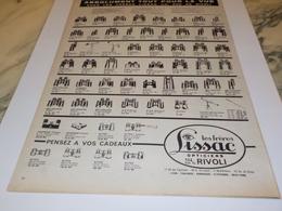 ANCIENNE PUBLICITE JUMELLE DES FRERES LISSAC 1960 - Ciencia & Tecnología