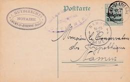 Carte OC2 11 Court-St Etienne à Namur Cachet Censure Mlilitaire Ottignies - Oorlog 14-18