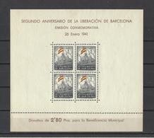 ESPAGNE Barcelone.  YT  Bloc N° 1/2  Neuf *  1941 (voir Détail) - Barcelona