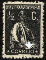 PORTUGAL, 1917/20, CERES, CE#207, 1/2 C., CLICHÉ VARIETY LI, MNH - Errors, Freaks & Oddities (EFO)
