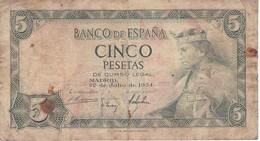 BILLETE DE 5 PTAS DEL AÑO 1954 SERIE P DE ALFONSO X (BANKNOTE) - [ 3] 1936-1975 : Régence De Franco
