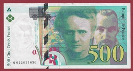 """500 Francs """"Pierre Et Marie Curie"""" 1994 ----TTB+----ALPH.Q. Numéro 022611630 - 1992-2000 Last Series"""