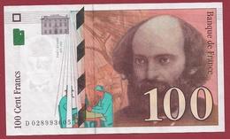 "100 Francs ""Cézanne"" 1997 ----TTB+----ALPH.D. Numéro 028993605 - 1992-2000 Ultima Gama"