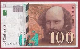 """100 Francs """"Cézanne"""" 1997 ----TTB+----ALPH.E. Numéro .014217852 - 1992-2000 Ultima Gama"""