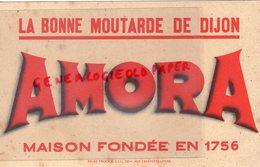 21- DIJON - BUVARD MOUTARDE AMORA - IMPRIMERIE SIC 231 RUE LAFAYETTE PARIS - Lebensmittel