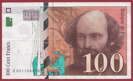 "100 Francs ""Cézanne"" 1997 ----TTB+----ALPH.H. Numéro .031186670 - 1992-2000 Ultima Gama"