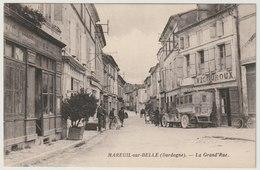 24 - Mareuil Sur Belle - La Grand'Rue - Grande Rue - Voiture Ancienne - Animée - Sonstige Gemeinden