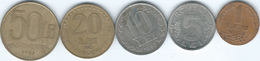 Romania - 1992 - 1, 5, 10 - 2nd Revolution Anniversary, 20 & 50 Lei (KMs 113, 114, 108-110) - Romania