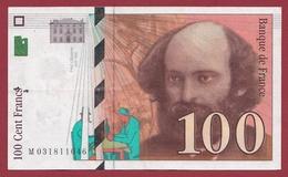 "100 Francs ""Cézanne"" 1997 ----TTB+----ALPH.M. Numéro .031811046 - 1992-2000 Ultima Gama"