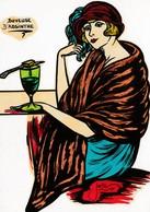 CPM RARE Femme  Lady Absinthe Buveuse D' Absinthe Style Art Nouveau Tirage Limité Illustrateur LARDIE (2 Scans) - Lardie