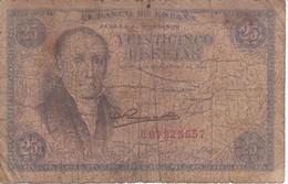 BILLETE DE ESPAÑA DE 25 PTAS DEL 19/02/1946 SERIE E  CALIDAD RC (BANKNOTE) - [ 3] 1936-1975 : Regime Di Franco