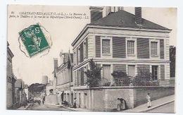 37 - CHATEAURENAULT -  RUE DE LA REPUBLIQUE - BUREAU DE POSTE, THEATRE - POMPE - France