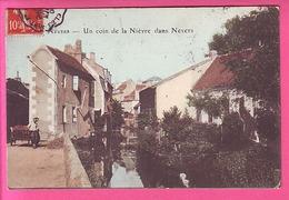 NEVERS UN COIN DE LA NIEVRE DANS NEVERS CARTE COLORISEE ECRITE EN 1908 PETITE ANIMATION - Nevers