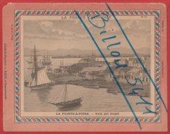 Protége Cahier Ancien La France Coloniale GUADELOUPE ; La Pointe-à-Pitre ; Vue Du Port - Protège-cahiers