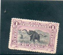 CONGO BELGE 1894-900 SANS GOMME - Congo Belga