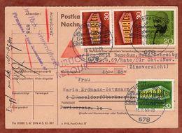 Nachnamekartenteil, Gandhi U.a., Pirmasens Nach Duesseldorf, Zurueck 1969 (93584) - Lettres & Documents
