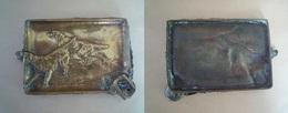 Cendrier En Bronze / Chiens De Chasse (Setters) - Metal