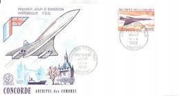 ENVELOPPE   CONCORDE           ARCHIPEL DES COMORES   1969 - Concorde
