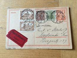 KS2 Deutsches Reich Ganzsache Stationery Entier Postal P 141I Von Stuttgart Per Eilboten Nach Karlsruhe - Allemagne