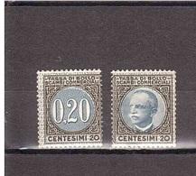 CENTESIMI 20 TASSA DI BOLLO SCAMBI COMMERCIALI NUOVO - 1900-44 Vittorio Emanuele III