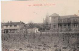 Lot-09 - Ain - Ceyzeriat - La Gare Et Le Car - Frankreich