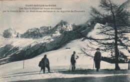***74  *** SAINT GERVAIS LES BAINS Les Sports D'hiver En Haute Montagne Par Le Chemin De Fer Du Mont Blanc .. écrite TTB - Saint-Gervais-les-Bains