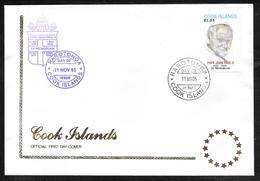 Cook Islands / Rarotonga - 2005 Pope John Paul II In Memorium FDC - Cookinseln