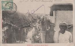 COTE FRANCAISE DES SOMALIS DJIBOUTI LA RUE DU BENDER-DJEDID OBLITERATION SUR TIMBRE (5c) DJIBOUTI - Somalia (1960-...)