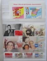 2000/04 Petite Collection Neufs ** 35 Feuillets Différents (+ Quelques Doubles) Et Timbres Correspondants - Espagne