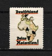Deutsches Reich Kolonien Revenue Cinderella Vignette Propaganda Postfrisch - Vignetten (Erinnophilie)