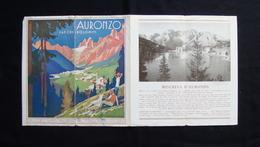 Pieghevole Turistico Auronzo Ansiei Misurina Anni'30 Lenhart Cadore Dolomiti - Vecchi Documenti