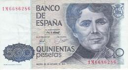 BILLETE DE 500 PTAS DEL AÑO 1979 SERIE 1M  (BANKNOTE) - [ 4] 1975-… : Juan Carlos I