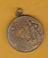 Guerre 14-18 WWI - Petite Médaille En Laiton - Pro Patria 1914 - George V + R. Poincaré + Nicolas II - France