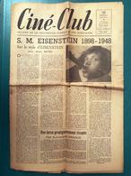 Ciné Club N° 5 - Mars 1948 - S.M. Eisenstein 1898-1948 - Revistas