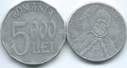 Romania - 2002 - 1000 Lei - Constantin Brancoveanu - KM153 & 5000 Lei - KM158 - Romania