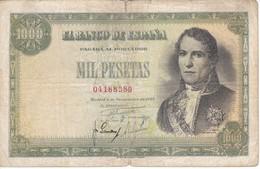 BILLETE DE 1000 PTAS DEL AÑO 1949 DE SANTILLAN (BANKNOTE) - [ 3] 1936-1975 : Régence De Franco