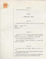 FISCAUX SUISSE CANTON DE GENEVE, 1,50 FR Orange 4 Exemplaires 1971 - Fiscaux