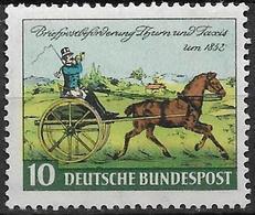 1952 Allem. Fed. Deutschland Germany  Mi.160 ** MNH 100. Jahrestag Der Erstausgabe Der Briefmarken Von Thurn Und Taxis; - Ongebruikt