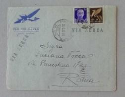 Busta Di Lettera Per Via Aerea Da P.M. 23 Per Roma 30/04/1943 (Grecia) - Military Mail (PM)