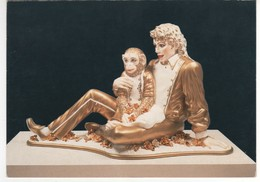 Carte , Postcard Neuve : Jeff Koons , éditions Benedikt Taschen , Mickael Jackson And Bubbles1988 - Photographie