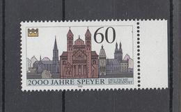 US 07 ) BRD Germany 1990 / 1444 **/MNH -  2000 Jahre Speyer - Dom   (SR) - Nuovi