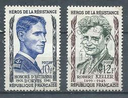 France YT N°1101-1102 Héros De La Résistance Oblitéré ° - Used Stamps