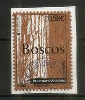 Wood Stamp Andorra. Timbres En Bois (Liège) , Oblitéré Sur Fragment Lettre, 1 ère Qualité - Used Stamps