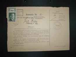 AUSWEIS N°12 JUND Eugène TP 1 RM Bord De Feuille 10,00 OBL.18.11 44 ALTKIRCH (68 HAUT-RHIN) Ville Libérée Le 20.11.1944 - Marcophilie (Lettres)