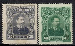 HN+ Honduras 1891 Mi 39-40 Mlh Louis Bogran - Honduras